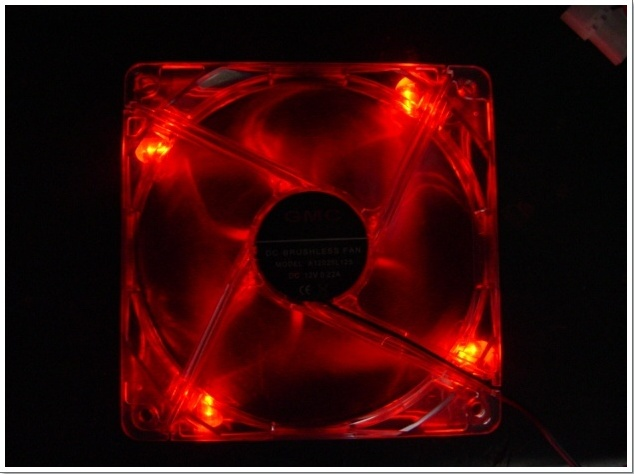 [J673B] 120 X 120 X 25mm DC 12V LED 조명 FAN