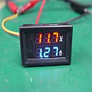 [W926] DC용 10A DUAL 디지탈 전압/전류메타