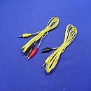 [X481C] 노란색 악어클립달린 3.5파이 이어잭 케이블 1.5m(2개)